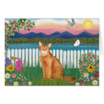 Abyssinian (red 18) - Garden-Shore Greeting Card