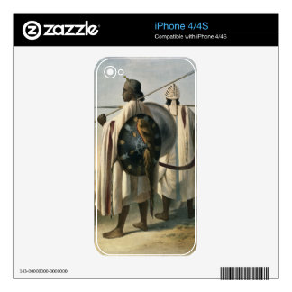 Abyssinian Warriors, illustration from 'The Valley iPhone 4 Decal