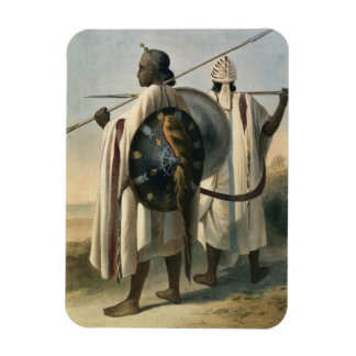Abyssinian Warriors, illustration from 'The Valley Rectangle Magnet
