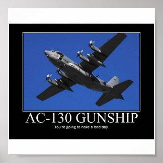 AC-130 Gunship Motivational Poster