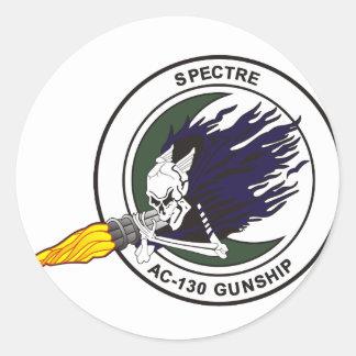 AC-130 Spectre gunship Classic Round Sticker
