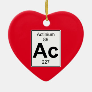 Ac - Actinium Ceramic Ornament