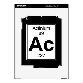 Ac - Actinium Decal For iPad 2