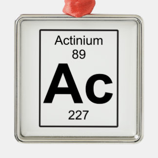 Ac - Actinium Metal Ornament