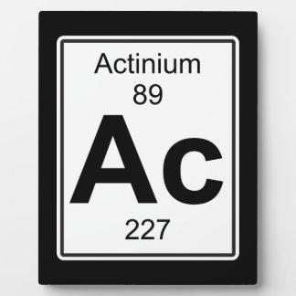Ac - Actinium Plaque