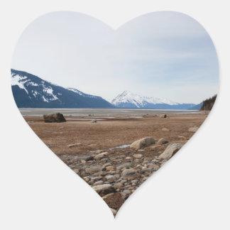 AC Alaskan Coast Heart Sticker