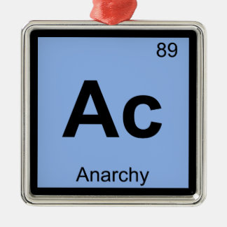 Ac - Anarchy Chemistry Periodic Table Symbol Christmas Ornaments