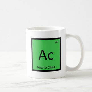 Ac - Ancho Chile Pepper Chemistry Periodic Table Coffee Mug