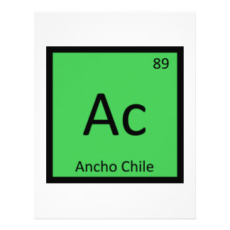 Ac - Ancho Chile Pepper Chemistry Periodic Table Letterhead