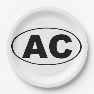 AC Atlantic City Paper Plate