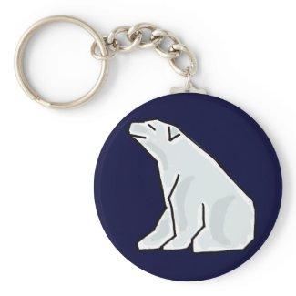 AC- Awesome Polar Bear Keychain keychain
