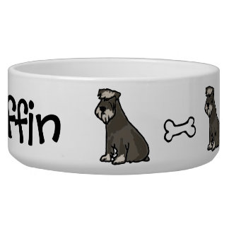 AC- Awesome Schnauzer Pet Bowl