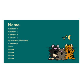 AC- Awesome Singing Cartoon Cats Business Cards