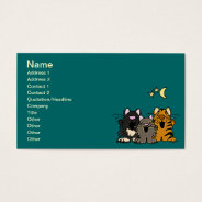 Ac- Awesome Singing Cartoon Cats Business Cards at Zazzle