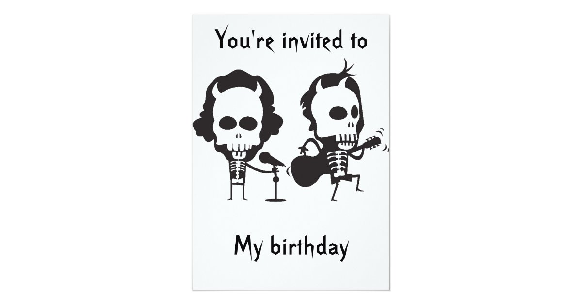 Ac Dc Birthday Invitation Zazzle Com