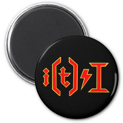 AC DC for nerds! 2 Inch Round Magnet