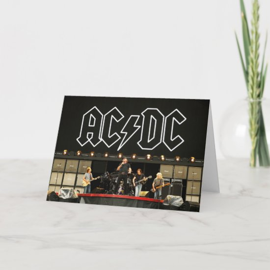 AC/DC Rock Or Bust World Tour Media Call Card
