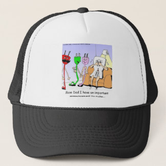 AC/DC Wiring Funny Relationship Gay/Lesbian Gifts Trucker Hat