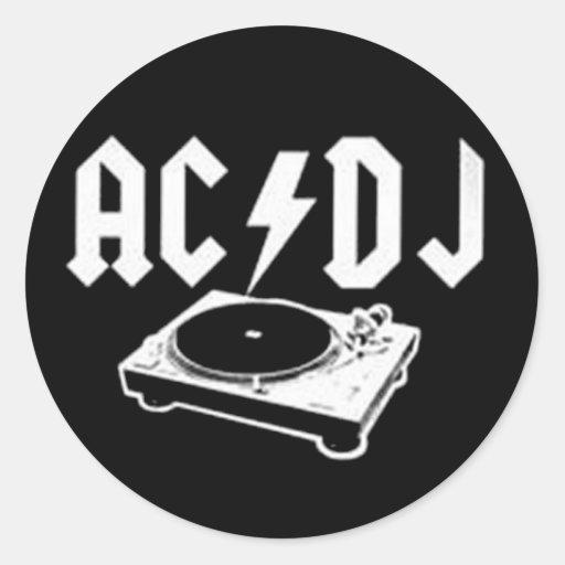 AC DJ CLASSIC ROUND STICKER
