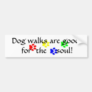AC- Dog walks are good  for  the soul sticker