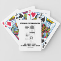 AC Dynamo Electrical System US Patent Nikola Tesla Bicycle Playing Cards