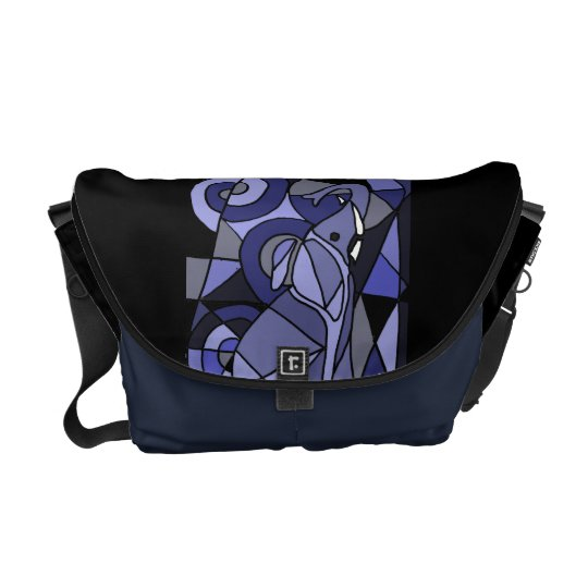 AC- Elephant Abstract Art Messenger Bag