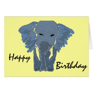 AC- Elephant Birthday Card