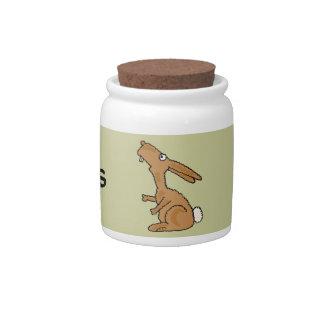 AC- Funny Bunny Rabbit Treats Jar Candy Jar
