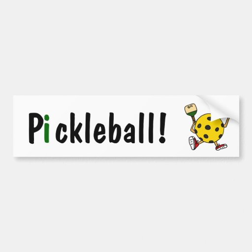 AC- Funny Pickleball Character Bumper Stickers