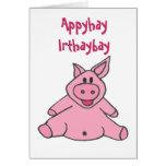 AC- Funny Piggy Birthday Card