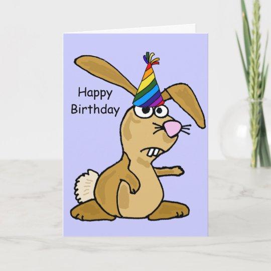 AC Funny Rabbit Birthday Card