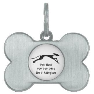 AC- Greyhound Art Pet Tag or Keychain