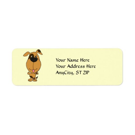 AC- Happy Dog Address Labels. Label