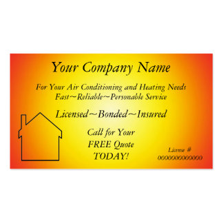AC/Heating/Solar~Appliance Contractor Bus. Card Business Card