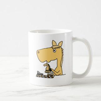 AC- Horse Playing Chess Cartoon Coffee Mug