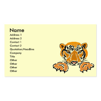 AC- Leaping Tiger Business Cards