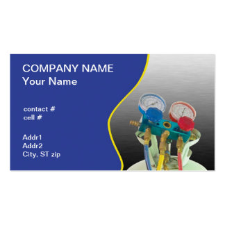 AC maintenance gauge Double-Sided Standard Business Cards (Pack Of 100)