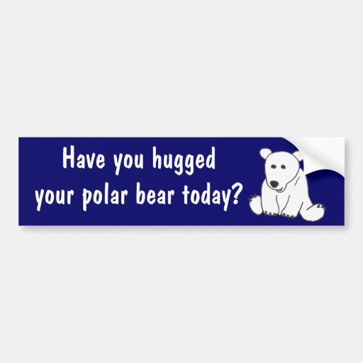 AC- Polar Bear Hug Bumper Sticker Car Bumper Sticker