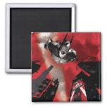 AC Poster - Batman flying Fridge Magnets