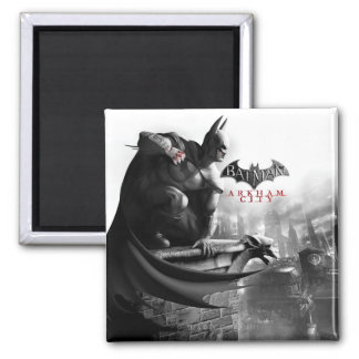 AC Poster - Batman Gargoyle Ledge 2 Inch Square Magnet