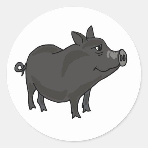 AC- Pot Bellied Pig Cartoon Sticker