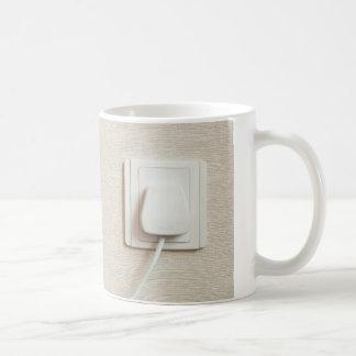 AC power plug in wall socket Coffee Mug