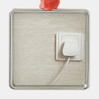 AC power plug in wall socket Metal Ornament