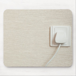 AC power plug in wall socket Mouse Pad