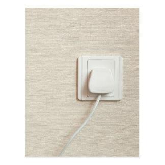 AC power plug in wall socket Postcard