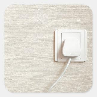 AC power plug in wall socket Square Sticker