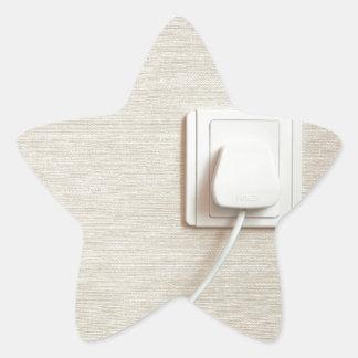 AC power plug in wall socket Star Sticker