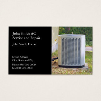 AC Service and Repair Business Card