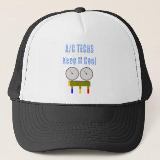 AC Techs Keep it Cool.png Trucker Hat
