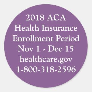ACA Enrollment Stickers - Private Jet Purple